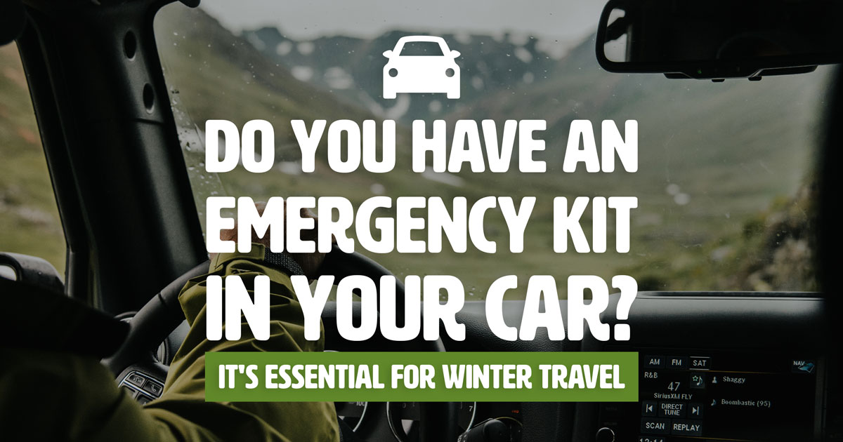 Do you have an emergency kit in your car? It's essential for winter trael
